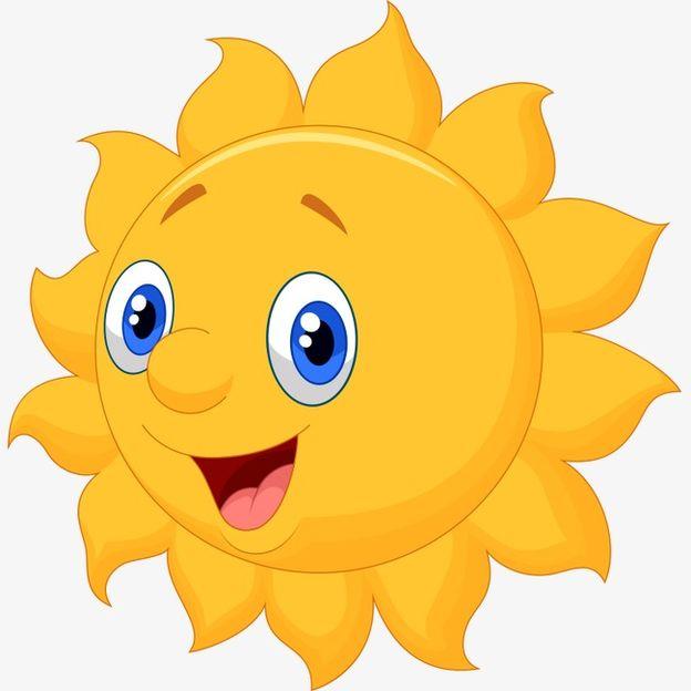 Прикольная солнце, цветные картинки солнышко