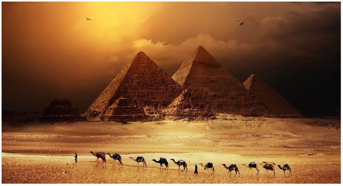 пирамиды древнего египта красивая картинка