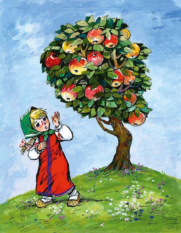 Картинки для детей яблоня (35 фото)
