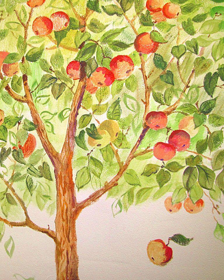 Картинки детские сад с деревьями
