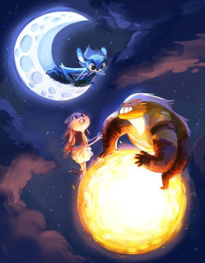 Луна из мультика картинки