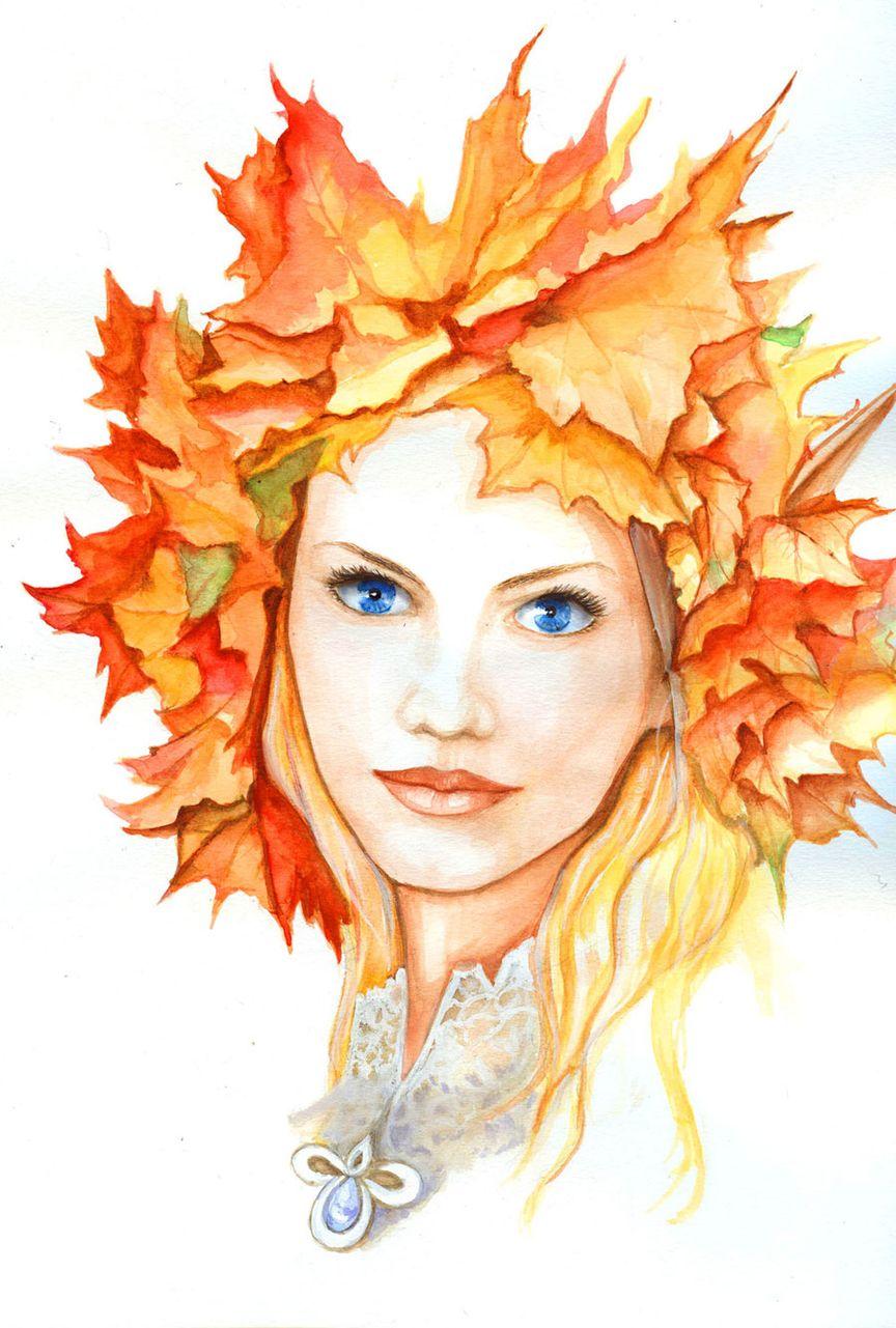 Картинки лицо девушки осень
