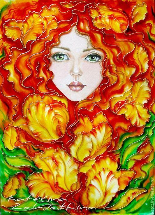Картинки портрет осени (33 фото)  Девушка Осень Рисунок