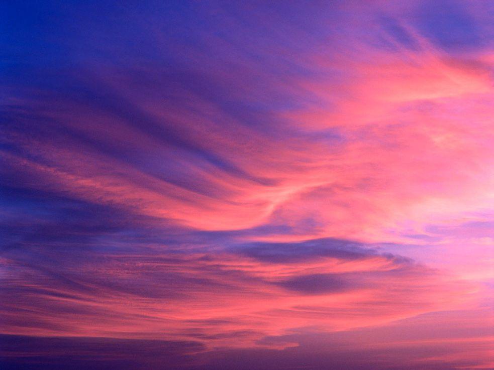 Картинки розово-голубое небо