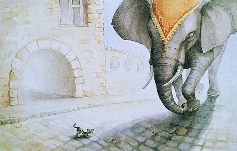 косово картинки басен крылова слон и моська сковороду