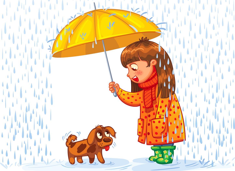 Картинки дождя для дошкольников