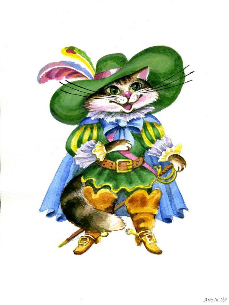 кот в сапогах картинки из сказки цветные экран можно