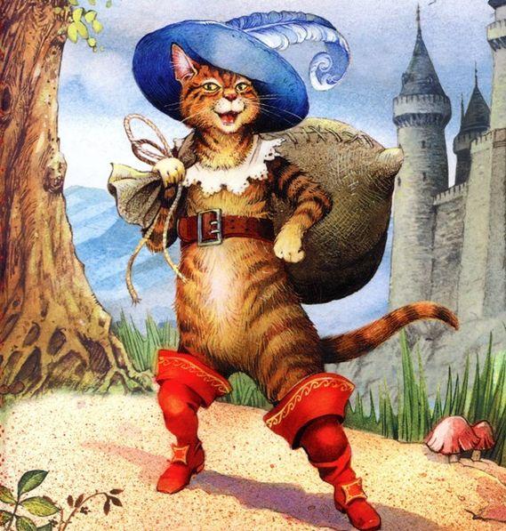 Сказки про кота в сапогах картинки