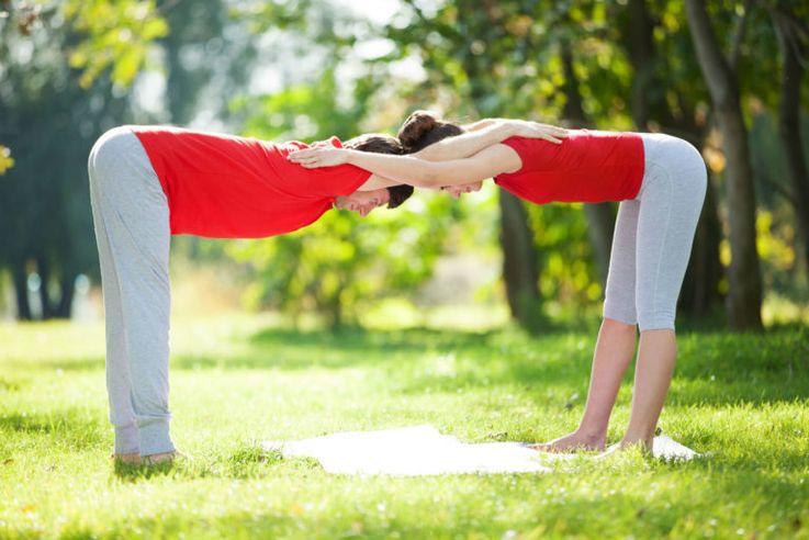 Картинки упражнения йоги на двоих