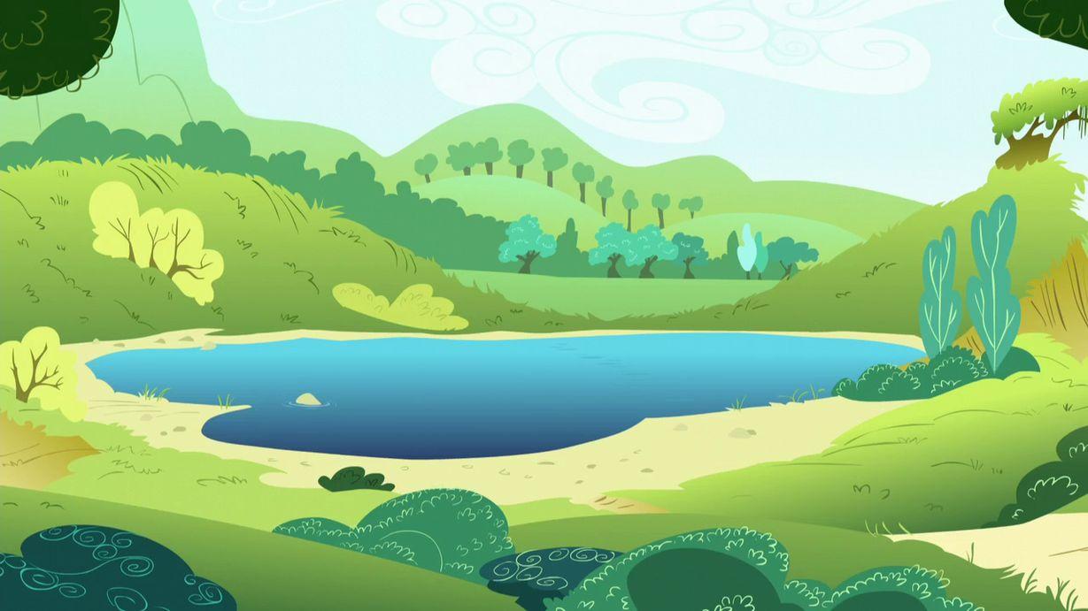 можно сделать картинка мультяшного озера что, добыть