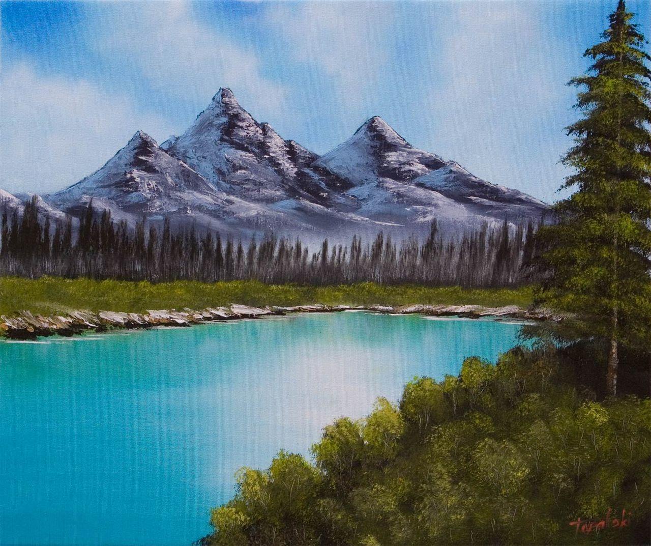 Красивые рисунки горы