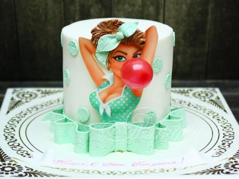 сахарная картинка на торт с приколом под