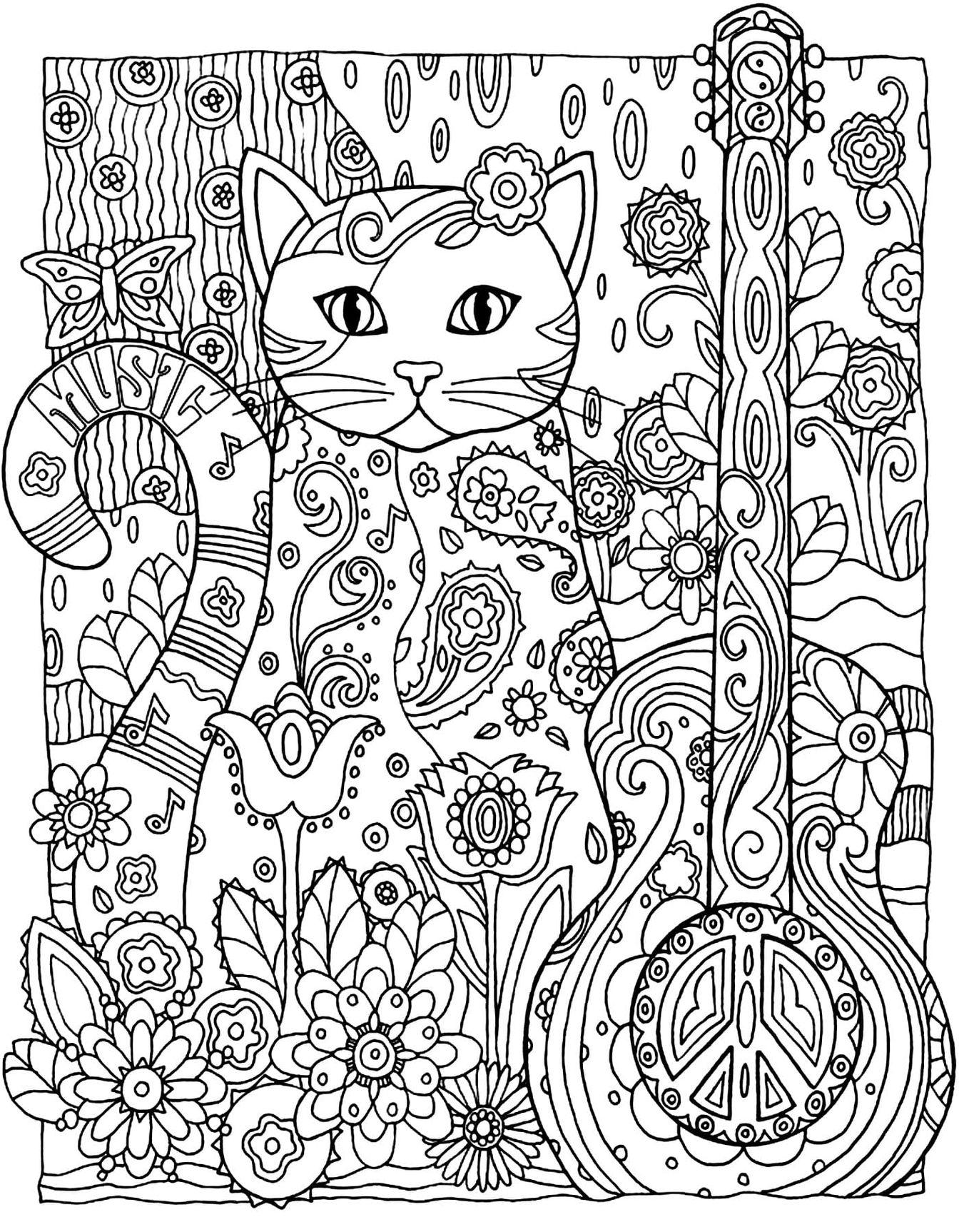 Картинки которые можно распечатать на принтере кот