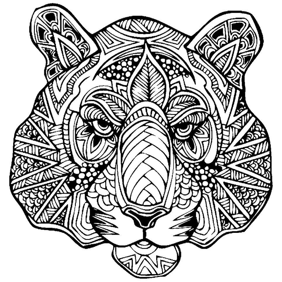 сложные животные по картинками стиль идеален