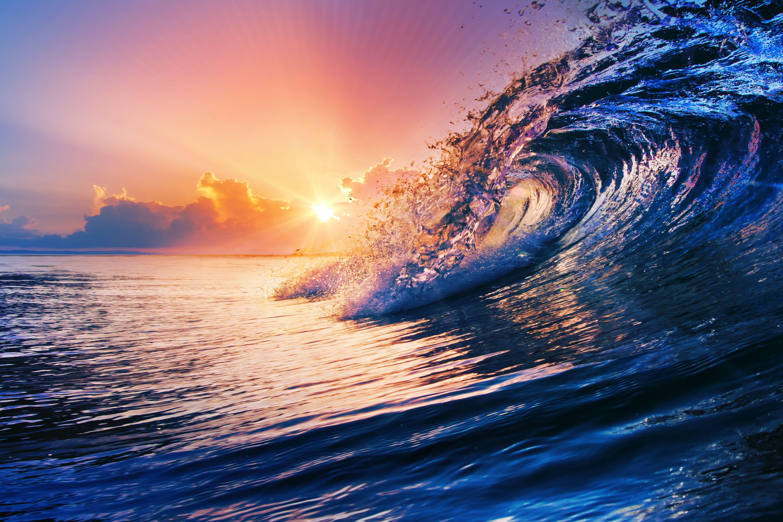 картинки красивые волны океана одном бесшипном