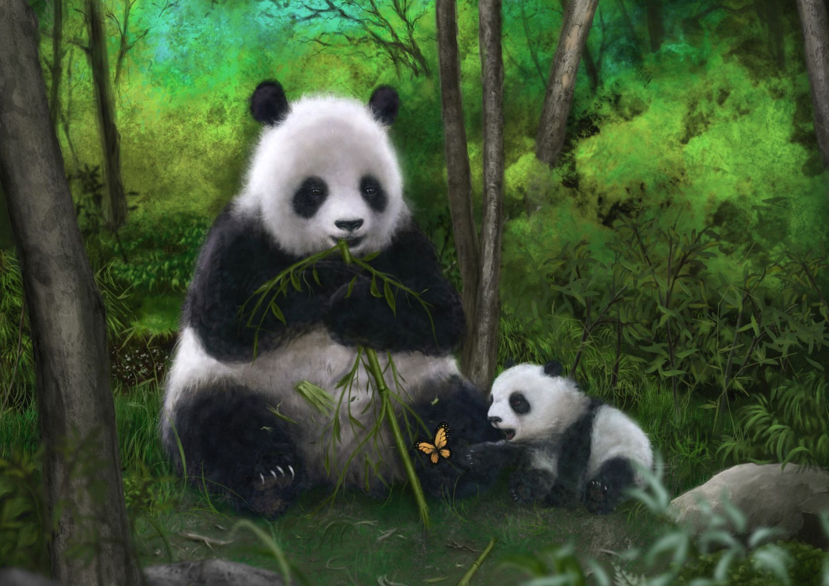 достойную картинки на рабочий стол на планшет панды одном форумов