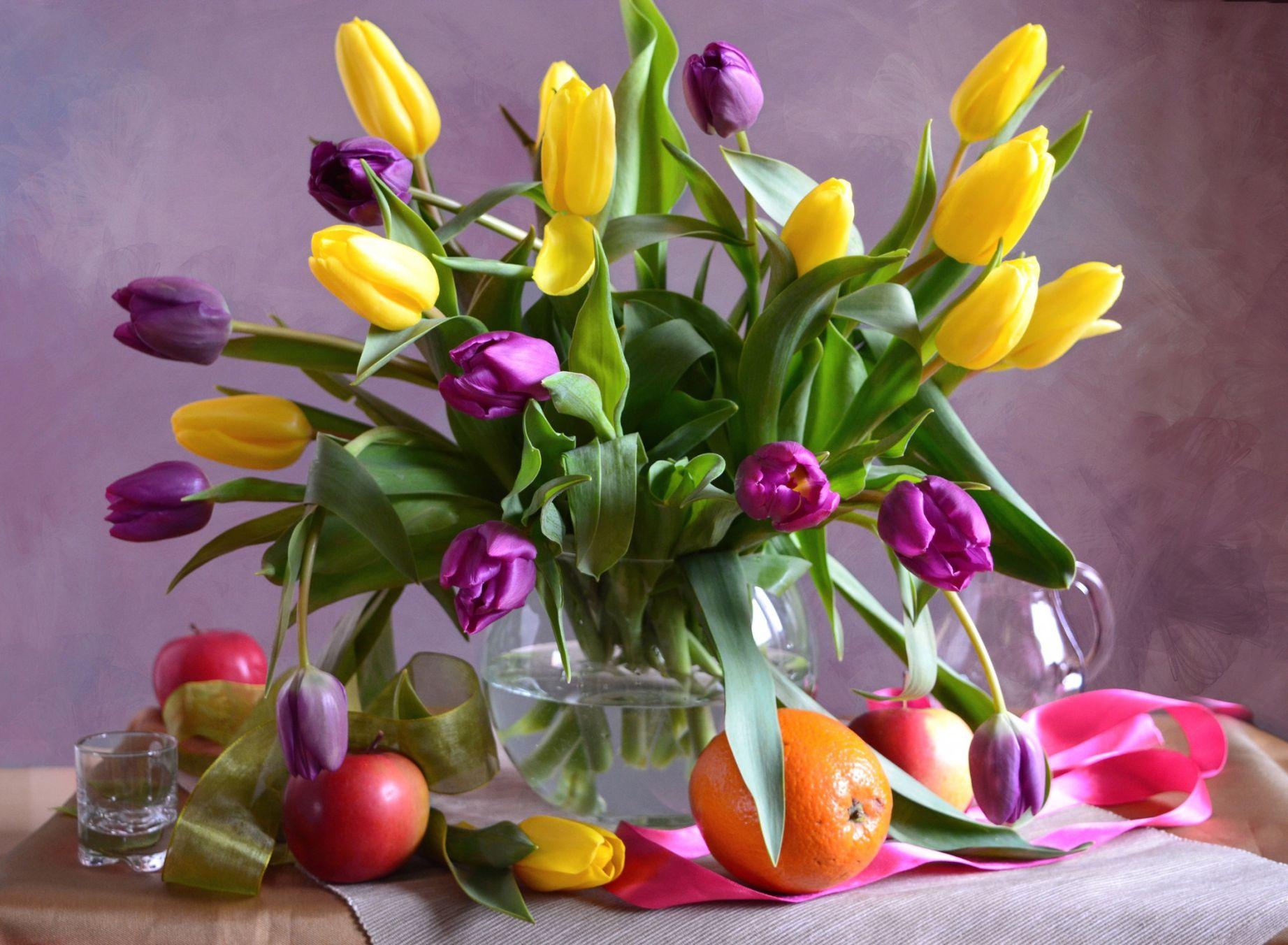 парадоксально, отсутствие картинки тюльпаны красивые букеты в вазе память сделал