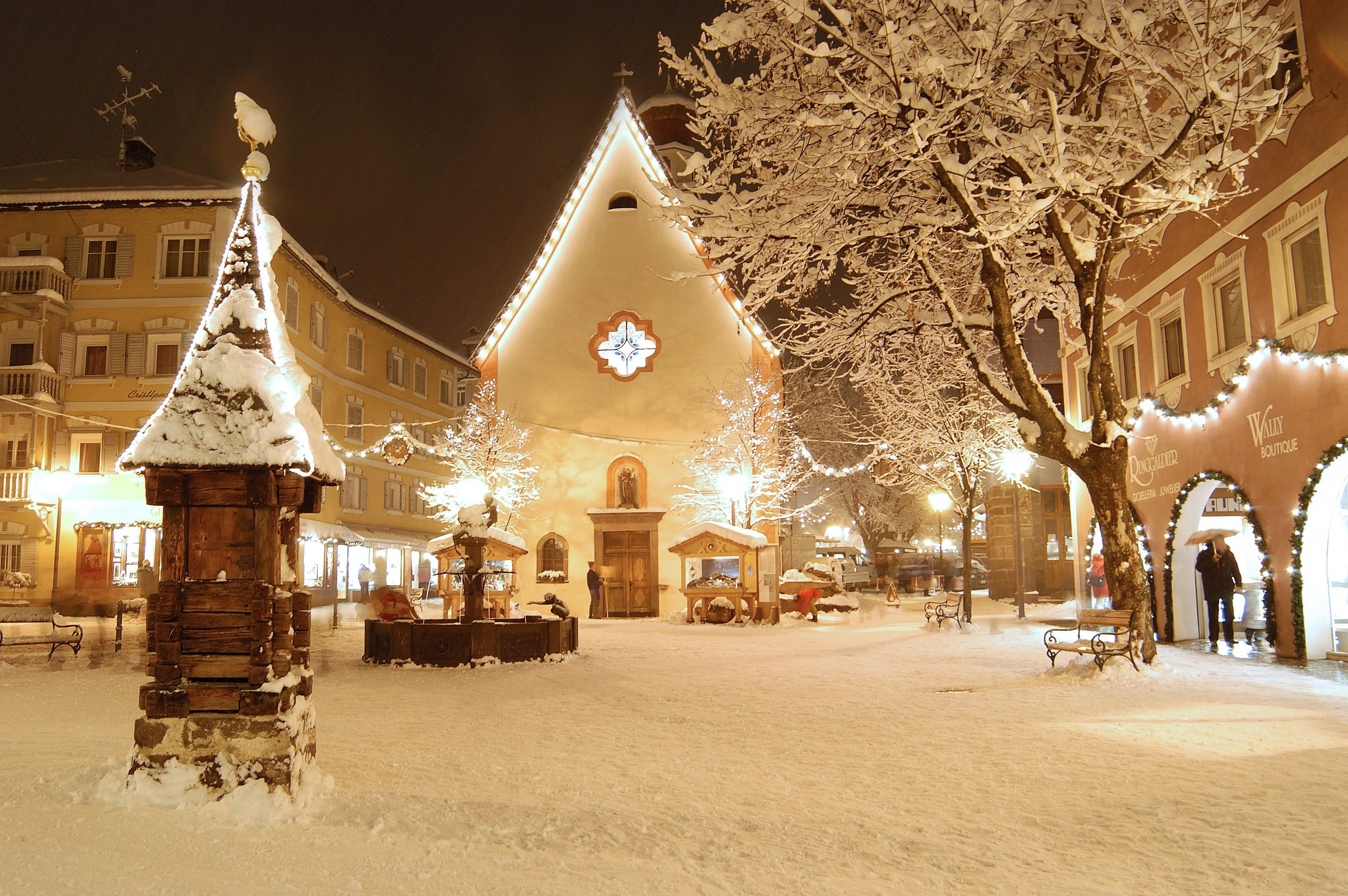 картинки зимний город красивые дома очень