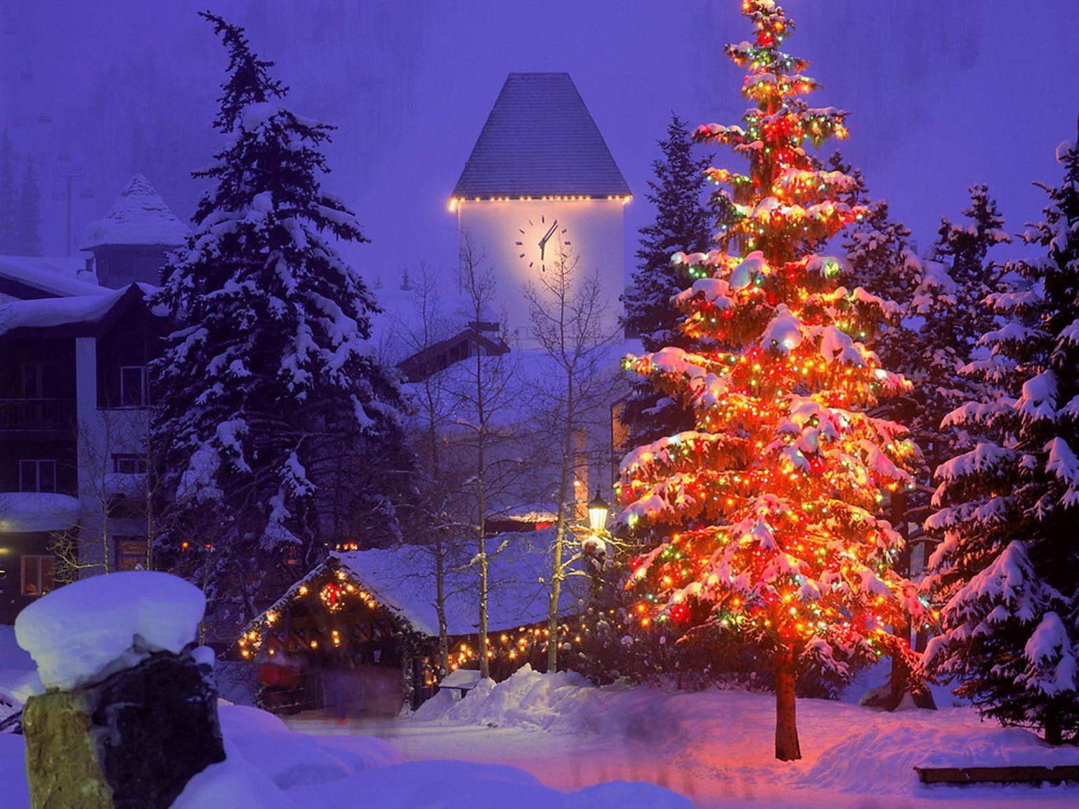 Красивые фото новый год зима