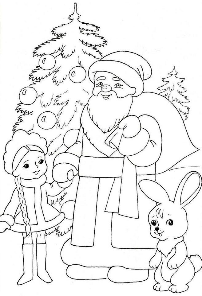 Детям рисовать новогодние картинки