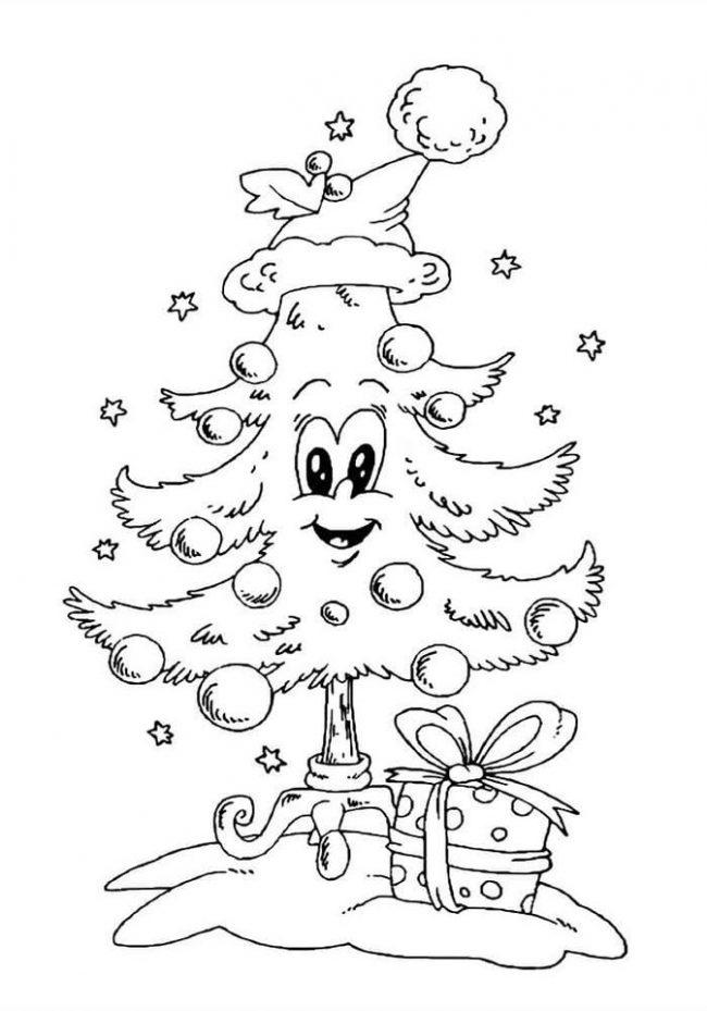 Новогодние рисунки для срисовки (40 фото)