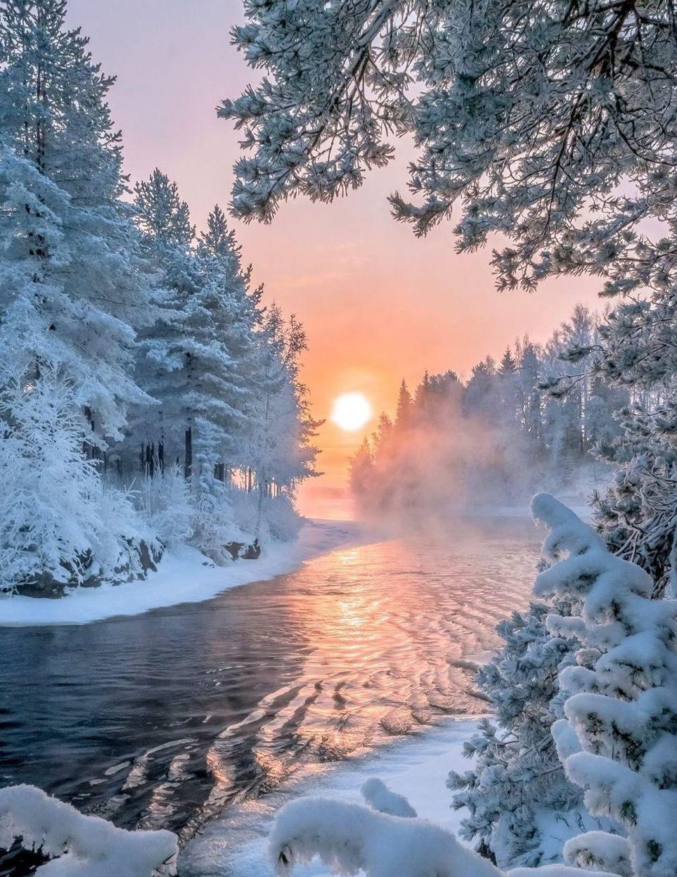 Зима красивые фото картинки