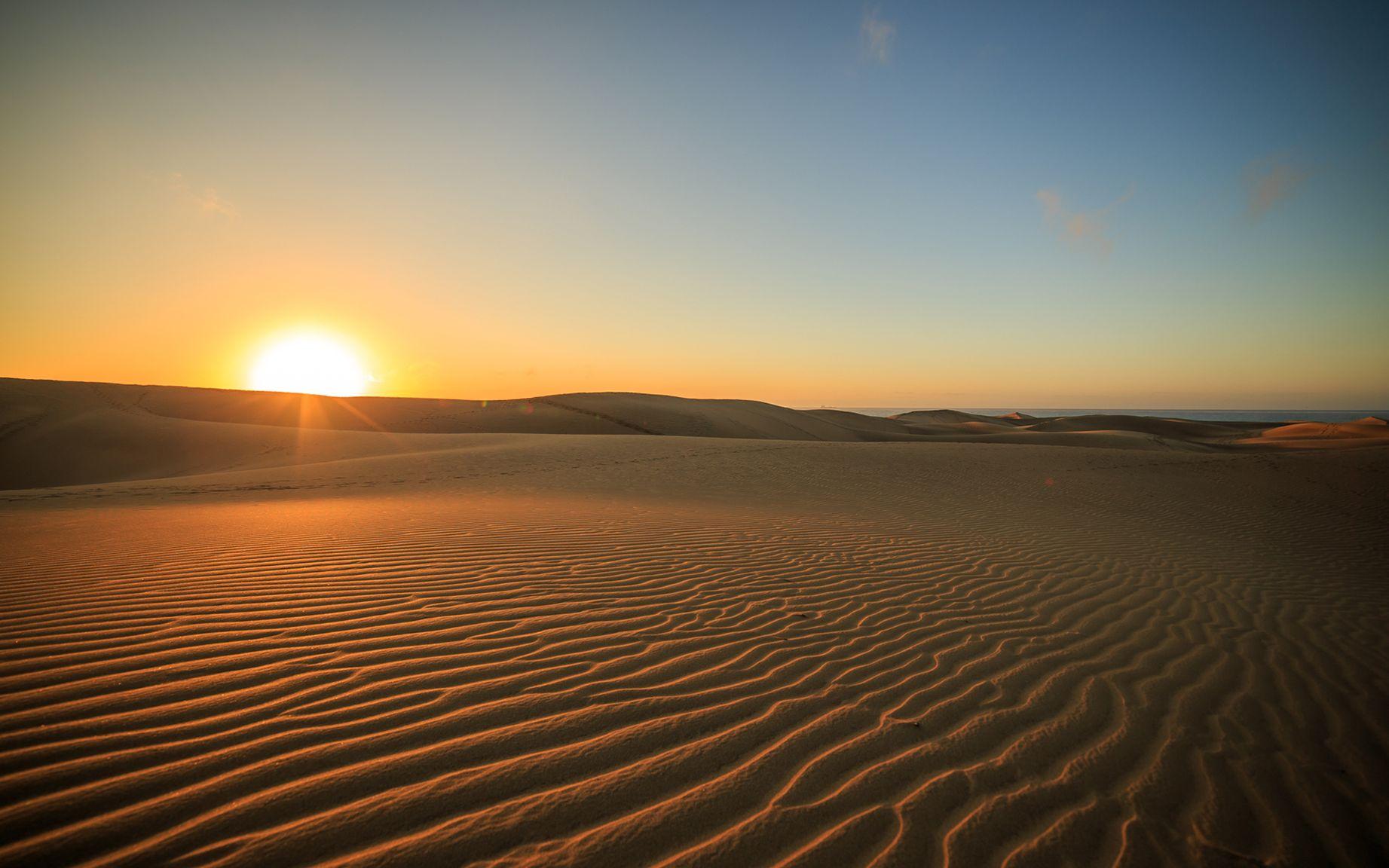 Картинки закат пустыни
